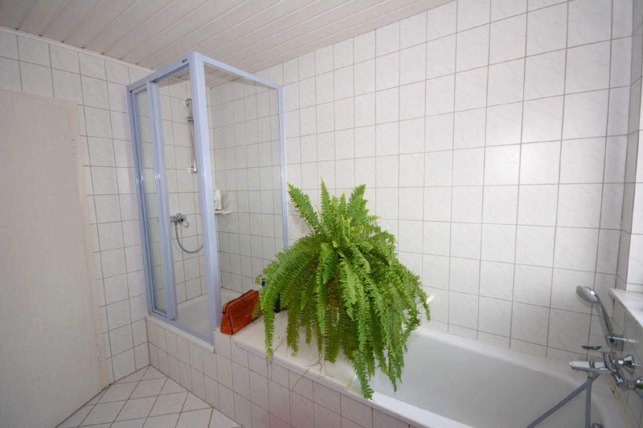 Wanne und Dusche im Bad