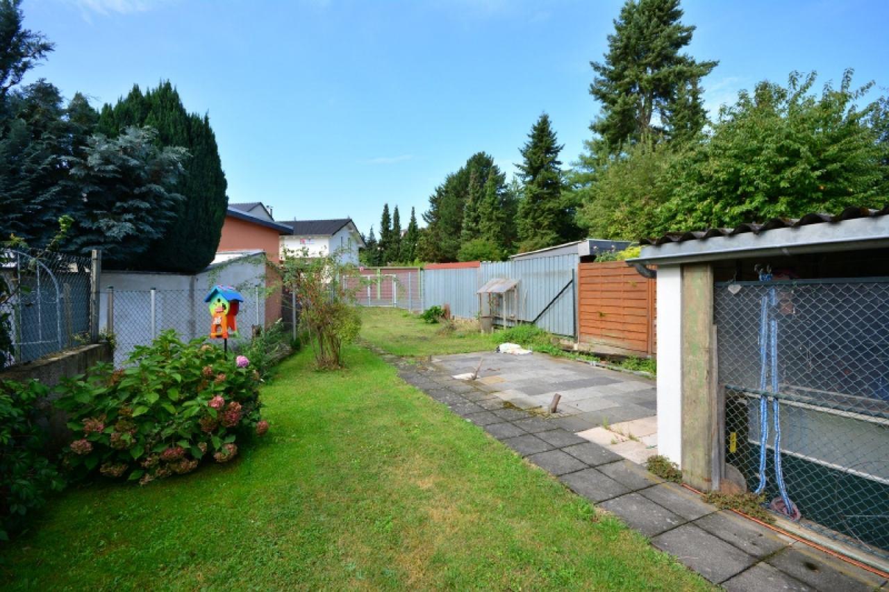 Der hintere Gartenbereich